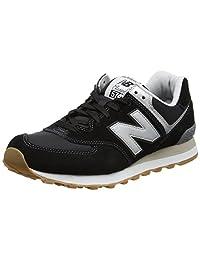 New Balance - Mens 574 ML574V1 Classics Shoes, 10 D(M) US, Black/Grey/White/Gum