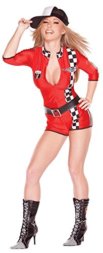 GTH Women's Racy Racer Nascar Driver Outfit Fancy Dress Sexy Costume, Small (6-8) -