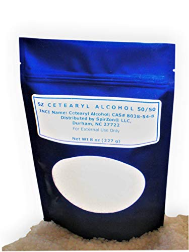 SZ Cetearyl Alcohol (50/50) 8 oz.To use in Homemade Soaps, Lotions, Body Butters, Cremes and Sugar Scrubs Recipes as a Co-emulsifier