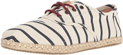 TOMS Women's Cordones Natural Stripe Woven 8 B US (Womens 8 Size Toms Shoes Wedges)