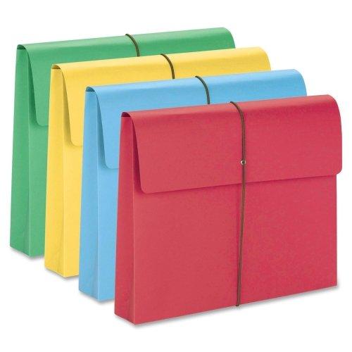 Wholesale CASE of 3 - Smead Elastic Closure Expanding School Wallets-Wallet w/Elastic Closure,2'' Exp,11-3/4''x9-1/2'',50/BX,Asst.