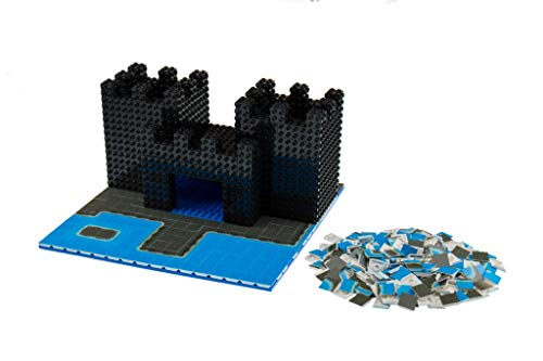 Strictly Briks Sea Castle Building Tile Set - 100% Compatible with All Major Brick Brands - 256 2x2 Textured Tiles for Creative Play - Baseplate and Bricks Not Included