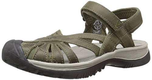 KEEN Women's Rose Leather Shoe, Burnt Olive/Neutral Gray, 5.5 M US by Keen