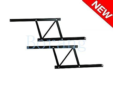 Borang Black Lift Up Modern Coffee Table Desk Mechanism Hardware Fitting Furniture  Hinge Spring Stand Rack