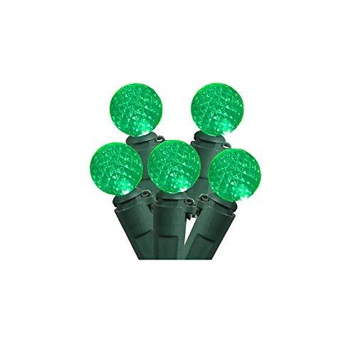 Set of 50 Green LED G12 Berry Christmas Lights 4