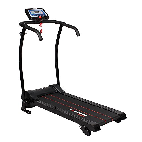 (Confidence Power Trac Pro 735W Motorized Electric Folding Treadmill Running Machine with 3 Manual Incline Settings)