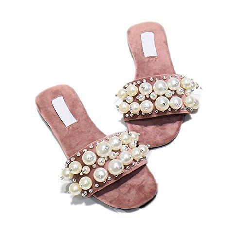 BAJIAN-LI haute heelswomen Sandales de Eté Peep Toe Chaussures basses femme Flip Flops Sandales Chaussures 5gO2UEeuqX