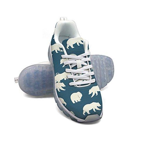 Faaerd Orsi Ripeti Blu Mens Traspirante Mesh Cuscino Daria Casual Moda Sneakers Atletica Palestra A Piedi Scarpe Da Corsa Sportive