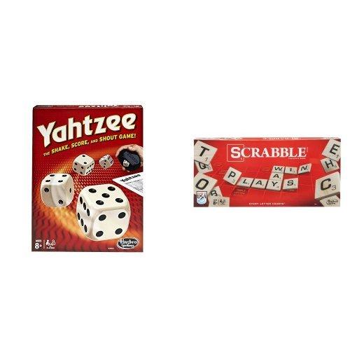 Yahtzee Classic and Scrabble Crossword Game Bundle