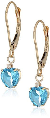 Prices for Diamond Heart Leverback Earrings - 5