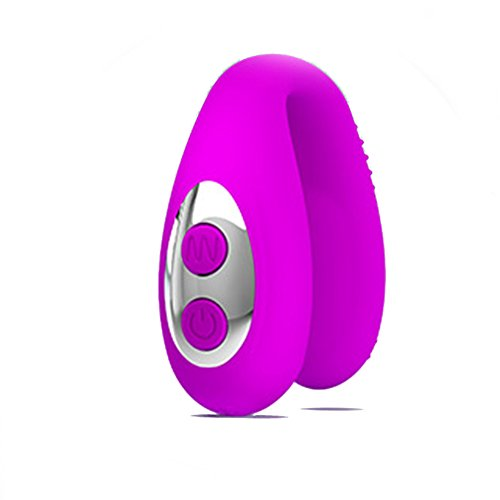 Oral Sex Vibe Vibrator, 3 Frequency Vibrating U Shape G Spot Clitoris Simulator Massager USB Charge Ring Purple Toy for Beginners & Women