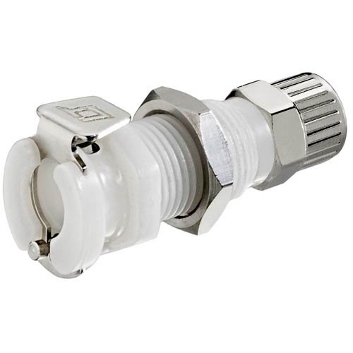 20ACV-SB8-04, 20AC Series Panel Mt. Socket, Valved, 1/4'' PTF, Sold in a package of 25