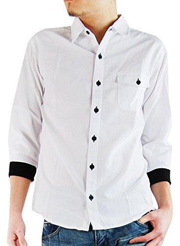責任成り立つ子(アーケード) ARCADE メンズ 7分袖 七分袖シャツ カフスリブ付き カジュアルシャツ