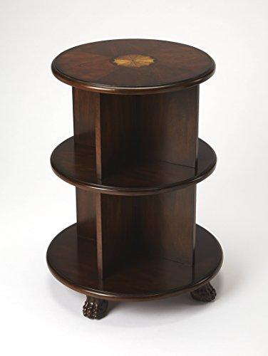 - Butler Traditional Plantation Cherry Round Dark Brown Bookcase 3977024