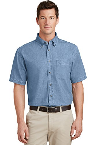 Port & Company Men's Short Sleeve Value Denim Shirt