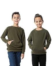 Kady Cotton Kangaroo-Pockets Sweatshirt for Kids