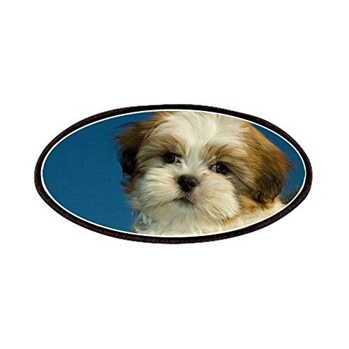 CafePress Shih Tzu Puppy Patches Patch, 4x2in Printed Novelty Applique Patch