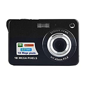 Mini Digital Camera,CamKing CDC3 2.7 inch TFT LCD HD Digital Camera (Black)
