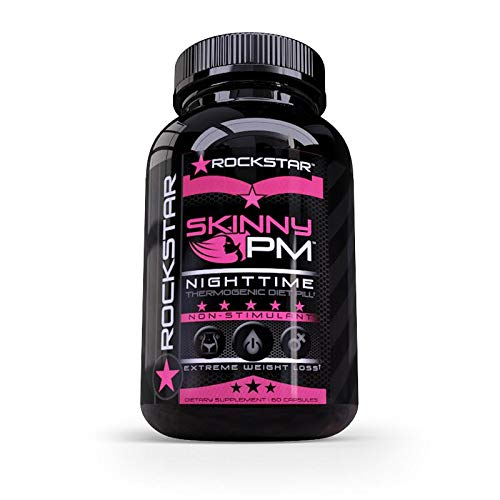 Skinny PM Weight Loss for Women, Diet Pills by Rockstar, 1 Thermogenic Diet Pill and Fast Fat Burner, Carb Block & Appetite Suppressant, Weight Loss Pills, 60 Veggie Caps