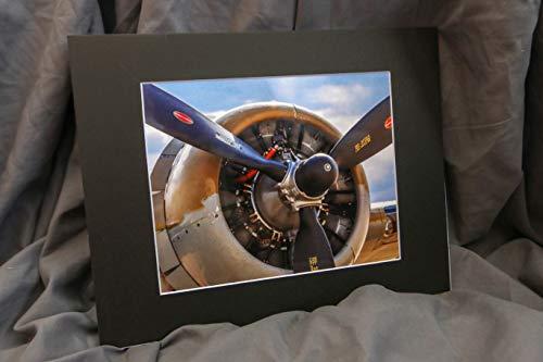 11x14 Mat with 8x10 Print B-17 World War 2 Bomber Aviation Plane Engine Wall Art Fine Print