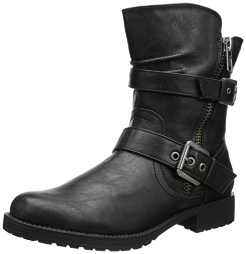 Penny Loves Kenny Women's Derrick Motorcycle Boot,Black,7 M