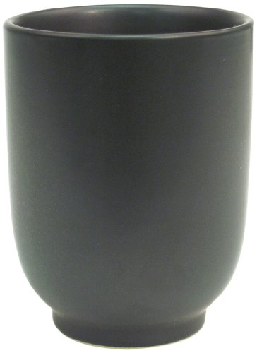 CAC China 666-1-BK Japanese Style 2-3/4-Inch Non Glare Glaze Black Cup, 8-Ounce, Box of 36 by CAC China