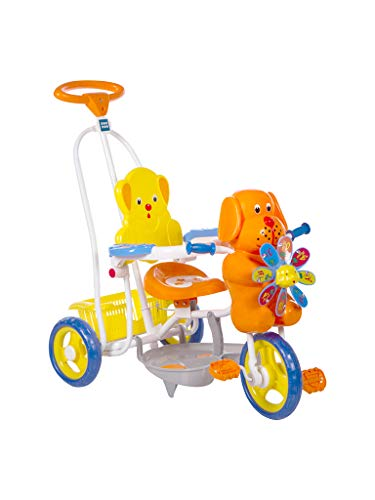 Mee Mee Baby Tricycle with Rocking Function (2 in 1) & Easy-to-Push Handle (Orange)