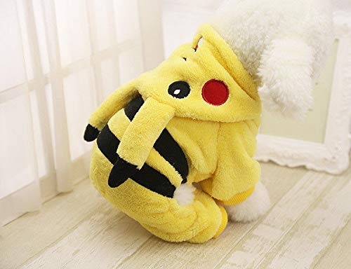 FidgetFidget Hoodie Clothes Dog Costume Pet Jacket Coat Puppy Cat Costumes Apparel Winter New S Pikachu -