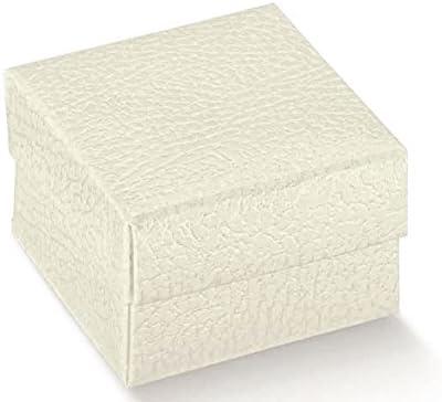 10 caja estuche BOMBONIERA Made in Italy blanco efecto piel cm 9 x 9 x 9 boda nacimiento bautizo Comunión: Amazon.es: Hogar