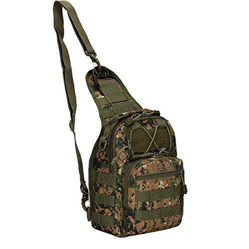 numérique Jungle Camp Sport senderismo color Mochila Militar Outdoor noir talla Mud hombro Táctico couleur única rucksack Sling tamaño ATx5qWadWw