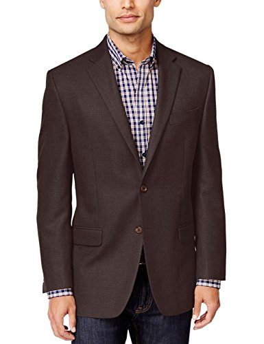 Lauren Ralph Lauren Mens Classic Fit Two-Button Suit Jacket Brown 40L