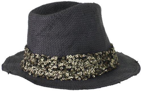 San Diego Hat Women's Sequin Fedora Hat, Black, One Size