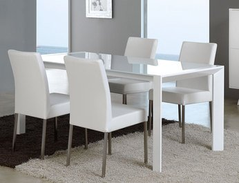Table De Salle A Manger Rectangulaire Design Laquee Blanche Veronica