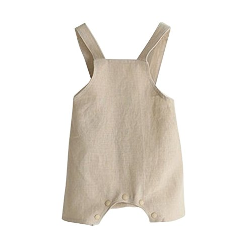ESHOO Baby Boys Girls Cotton Linen Romper Jumpsuit Pants Overall One Piece - Overalls Cotton Boys