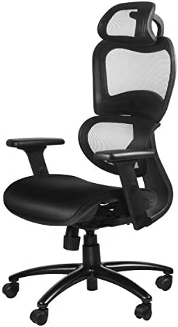 Duramont Ergonomic Office Chair with Lumbar Support – High Back Executive Chair with Breathable Mesh – Desk and Task Chair with Adjustable Head 3D Arm Rests, Seat Height – Reclines