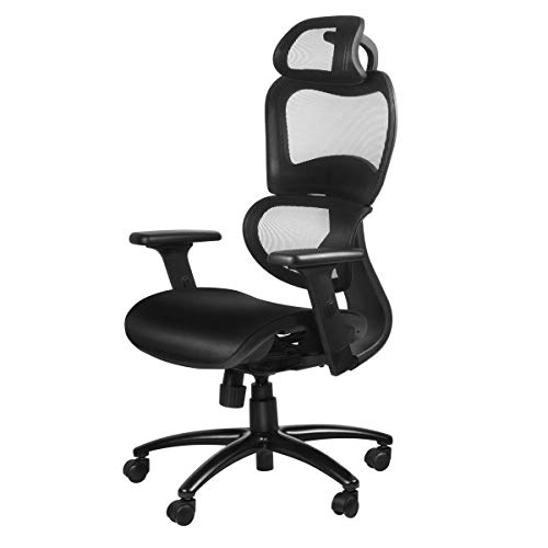 Duramont Ergonomic Office Chair with Lumbar Support – High Back Executive Chair with Breathable Mesh – Desk and Task Chair with Adjustable Head & 3D Arm Rests, Seat Height – Reclines