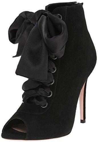 Sebastian Women's S6921 Dress Pump Suede/Satin/Black