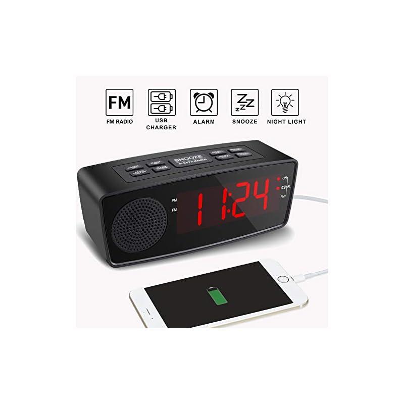 Clock Radios, Digital FM Alarm Radio Clo