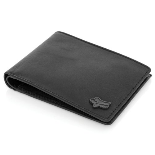 Fox Racing Leather (Fox Racing Mens Bifold Leather Wallet - Black / One)