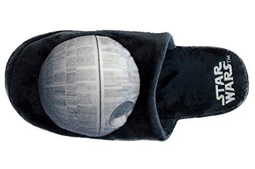 Star Wars estrella de la muerte Slip On Zapatillas negro y gris