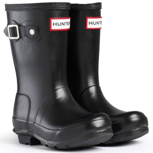 Kids Original Rain Boots - Hunter Unisex Kids Boots Kids Original Snow Boots Rain Boots - Black - 2G/1B
