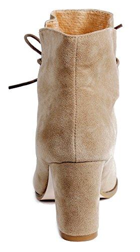 Cheville Femme Talon Lacet Hiver AgeeMi Boots Shoes Daim Solide Bottes Bloc 4pwx7gnqR