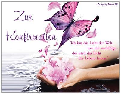 Konfirmationskarte Konfirmation Wasser Schmetterling