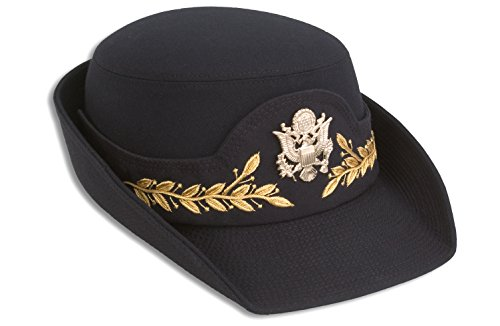 Female Army Service Cap, Classic Fabric (24, Field Grade) by Marlow White