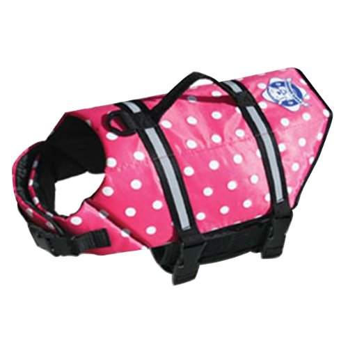 Paws Aboard Extra Small Doggy Life Saver / Preserver Pink Polka Dot Jacket 7 To 15 lbs