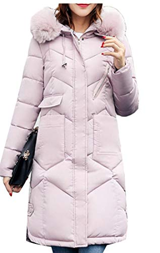 Winter Hooded Long Thickened Jacket Fur EKU Coat 2 Down Womens R17qaa