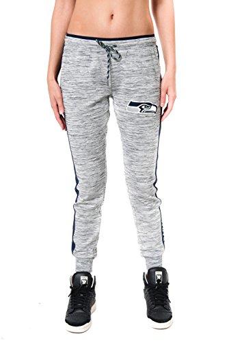 (ICER Brands Adult Women Jogger Pants Active Basic Fleece Sweatpants, Gray, Space Dye, Large)