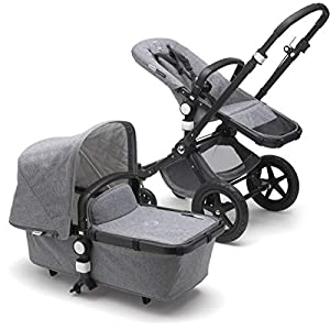 Bugaboo-Cameleon3-Plus-Classic-Complete-Stroller-BlackGrey-Melange-Versatile-Foldable-Mid-Size-Stroller-with-Adjustable-Handlebar-Reversible-Seat-and-Car-Seat-Compatibility