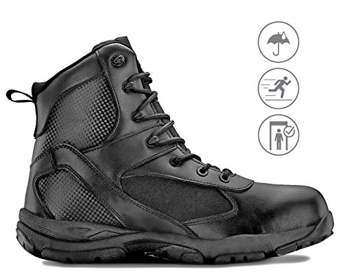 - Maelstrom Men's TAC ATHLON Military Tactical Work Boots, Style #4160 WP, Black, 6'', Waterproof, Size 9M