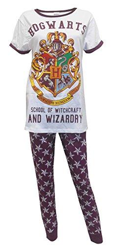 Ladies/Womens Official Harry Potter Hogwarts Pyjamas